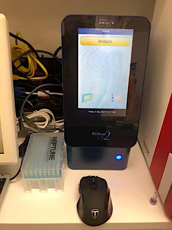 エキゾチックアニマル用の血液検査機器再導入しました